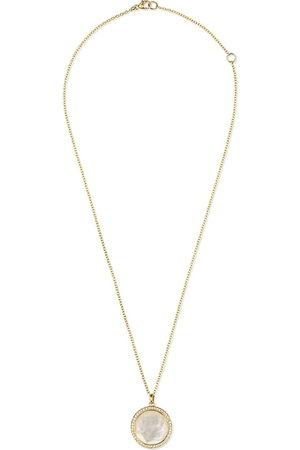 Ippolita 18kt yellow medium Lollipop mother-of-pearl and clear quartz pendant necklace