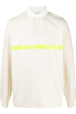 MACKINTOSH Striped rugby shirt - Neutrals