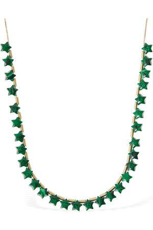 Bottega Veneta Malachite Mini Star Long Necklace
