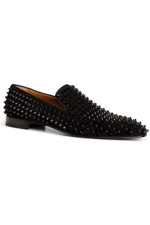 Christian Louboutin Dandelion Spikes Leather Loafers