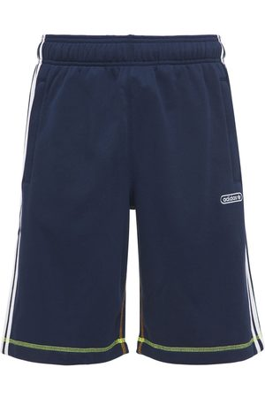 adidas Contrast Cotton Blend Sweat Shorts