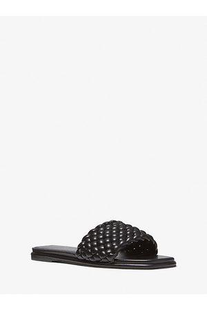 Michael Kors Women Sandals - MK Amelia Braided Slide Sandal - - Michael Kors