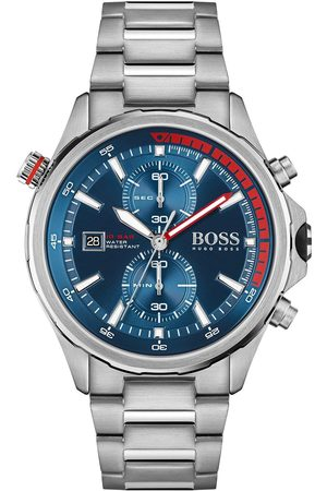 HUGO BOSS Globetrotter Blue Dial Stainless Steel Gents Watch