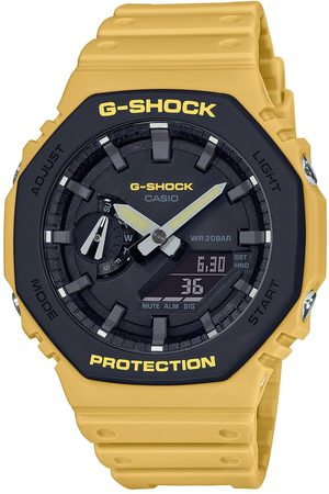 Casio G Shock Navy Neo Display Dial Gold Tone Bracelet Watch