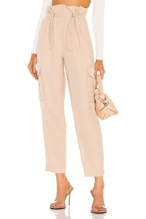 h:ours Women Cargo Trousers - Shaye Paperbag Cargo Pant in . Size XXS, XS, S, M, XL.