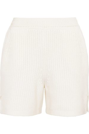 Barrie Ribbed-knit cashmere and cotton shorts