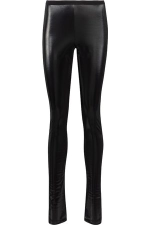 Rick Owens Lilies coated stretch-cotton leggings