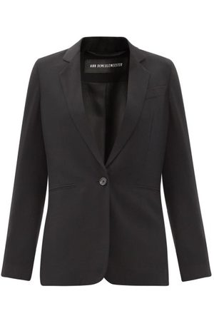 ANN DEMEULEMEESTER Single-breasted Fleecewool-twill Jacket - Womens