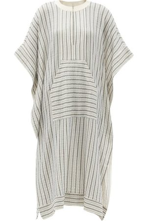 ZEUS+DIONE Calyx Striped Cotton-blend Midi Kaftan Dress - Womens