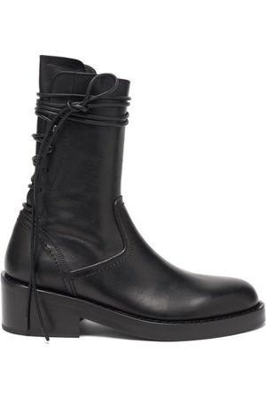 ANN DEMEULEMEESTER Wraparound-lace Leather Boots - Womens