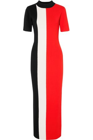 SOLACE LONDON Woman Color-block Ribbed Stretch-knit Maxi Size 10