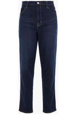 J Brand Woman Mia High-rise Straight-leg Jeans Dark Denim Size 30