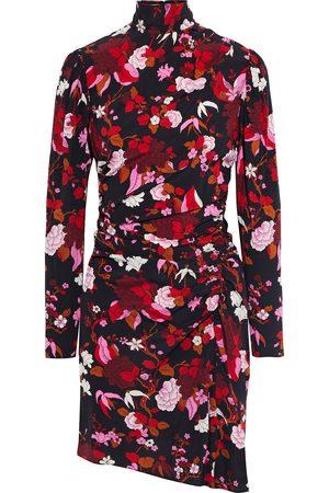 A.L.C. Woman Marcel Ruched Floral-print Silk-blend Mini Dress Size 0