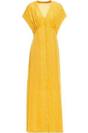 Samsøe Samsøe Samsøe Φ Samsøe Woman Gathered Silk-jacquard Midi Dress Size L