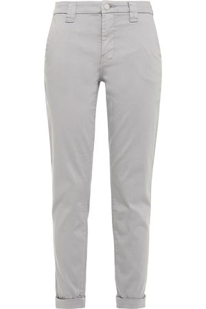 J Brand Woman Cotton-blend Slim-leg Pants Gray Size 24
