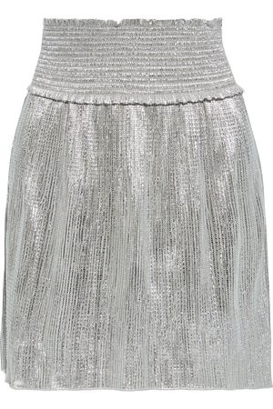 A.L.C. Woman Isla Shirred Textured-lamé Mini Skirt Size 0