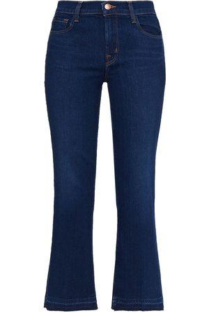 J Brand Woman Mid-rise Kick-flare Jeans Dark Denim Size 23