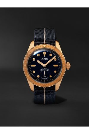 Oris Men Watches - Carl Brashear Limited Edition Automatic 40mm Bronze and MN Stretch-Nylon Webbing Watch, Ref. No. 01 401 7764 3185-Set