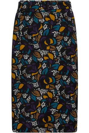 Max Mara Tenente floral cotton pencil skirt