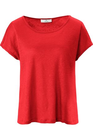 PETER HAHN PURE EDITION Round neck top in 100% linen size: 10