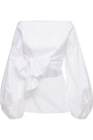 Rosie Assoulin Belted Cotton Poplin Shirt