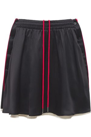Y / PROJECT Women Skirts - Reversible Silk Satin Button Skirt