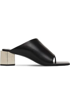 OFF-WHITE 55mm Hexnut Leather Thong Sandals