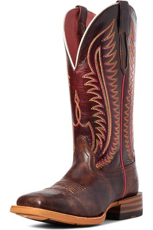 Ariat Women's Belmont Western Boots in Crackled Cafe Leather