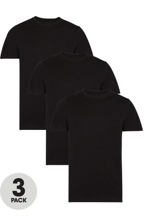 Very Man 3 Pack Of Essential Crew T-Shirt