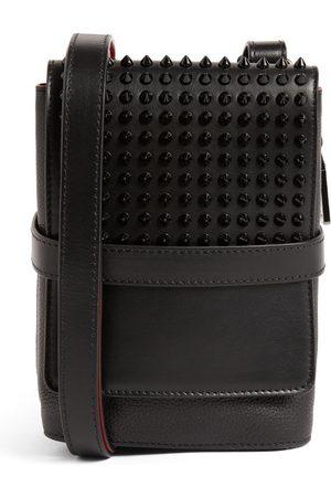 Christian Louboutin Benech Reporter Embellished Leather Messenger Bag