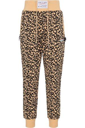 Adam Selman Sport High-rise leopard-print sweatpants