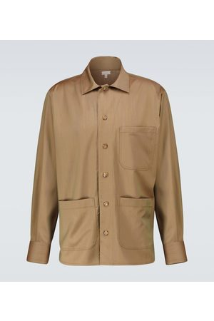CARUSO Woven wool overshirt