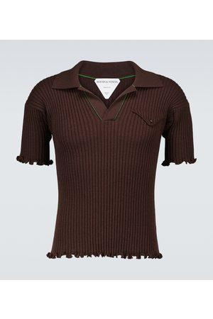 Bottega Veneta Ribbed wool short-sleeved polo