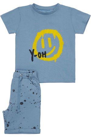 YELLOWSUB Printed Cotton T-shirt & Sweat Shorts