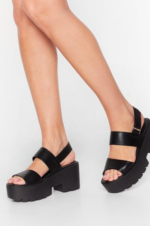 NASTY GAL Womens Cleated Platform Strappy Sandals