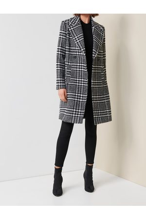 Forever New Women's Jillian Coat in and Porcelain, Size 10 Polyester/Wool/Polyester
