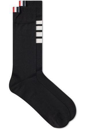 Thom Browne Men Socks - 4 Bar Mid Calf Sock