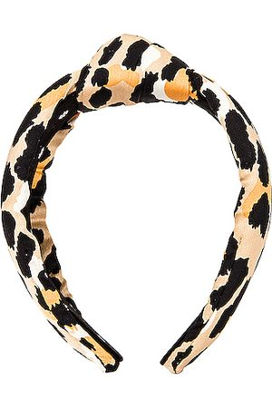 Lele Sadoughi Silk Knotted Headband in Leopard