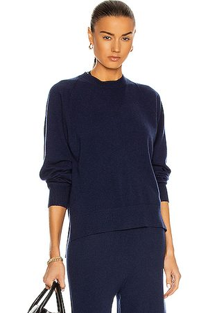 ROSETTA GETTY Relaxed Cashmere Crew Neck Sweater in Navy