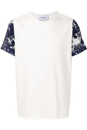 Ports V Paint-splatter short-sleeved T-shirt