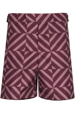 Frescobol Carioca Angra Tile-print tailored swim shorts
