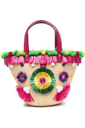 Dolce & Gabbana Embroidered bucket bag - Neutrals