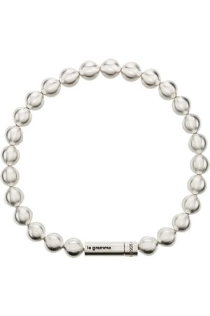 Le Gramme Le 47g brushed bead bracelet