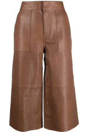 Frame Cropped leather culottes