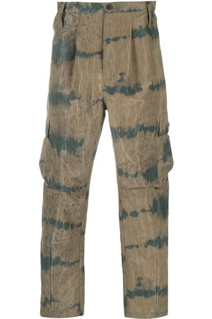HENRIK VIBSKOV Two-tone cropped cargo trousers