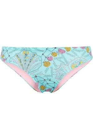 Emilio Pucci Shell-print bikini bottom - 069-TURCHESE