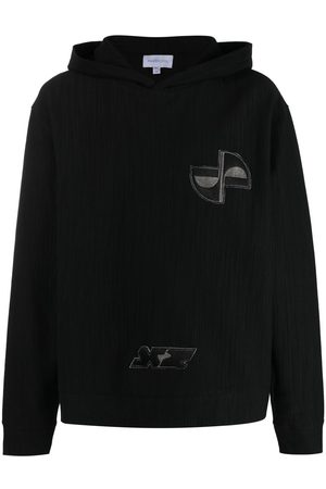Xander Zhou Embroidered patch hoodie