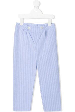 SIOLA Pinstripe-print cotton trousers