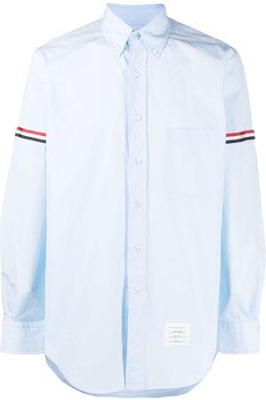 Thom Browne Men Long sleeves - RWB-stripe long-sleeve shirt