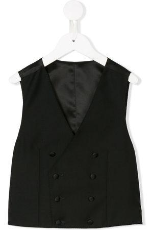 Dolce & Gabbana Boys Body Warmers - Tailored double-breasted waistcoat
